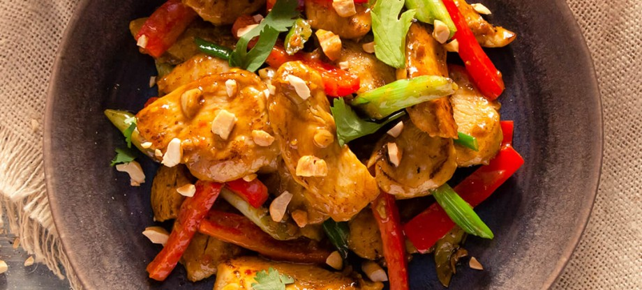 Peppers - Chicken Satay with Rice
