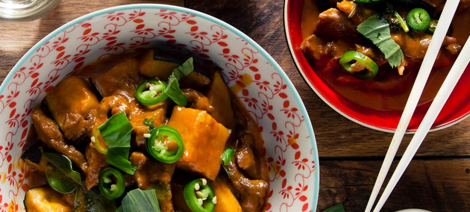 Curry Paste - Red curry with aubergines